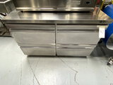 NEW INFRICO ALL S/S 4-DRAWER UNDERCOUNTER REFRIGERATOR (FRONT-BREATHING)