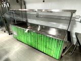 VOLLRATH REFRIGERATED BUFFET/SALAD BARW/SNEEZEGUARDS, LIGHTS & CASTERS