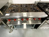 AMERICAN RANGE S/S 6-BURNER HOT TOP RANGE