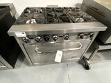 AD CRAFT S/S 6-BURNER RANGE W/OVEN