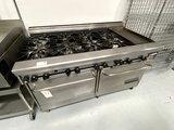 MONTAGUE (TECHNOSTAR) S/S 8-BURNER RANGE W/12