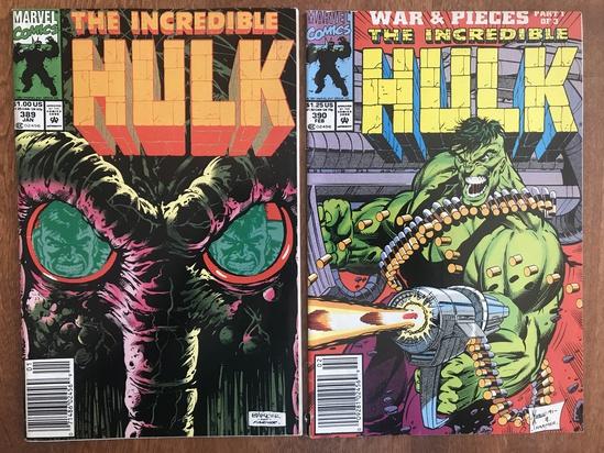 2 Issues The Incredible Hulk Comic #389 & #390 Marvel Comics