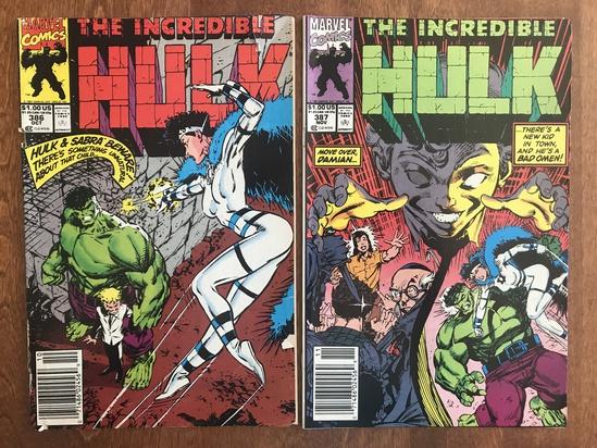 2 Issues The Incredible Hulk Comic #386 & #387 Marvel Comics