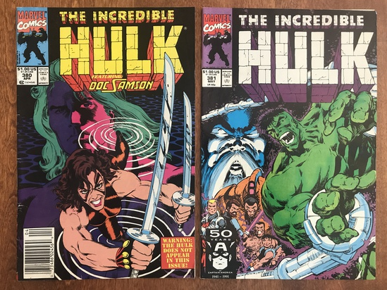 2 Issues The Incredible Hulk Comic #380 & #381 Marvel Comics