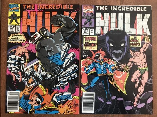 2 Issues The Incredible Hulk Comic #370 & #371 Marvel Comics Copper Age Comics