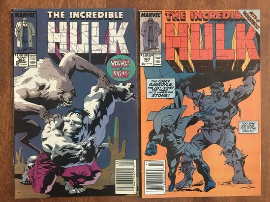 2 Issues The Incredible Hulk Comic #362 & #363 Marvel Comics Copper Age Comics