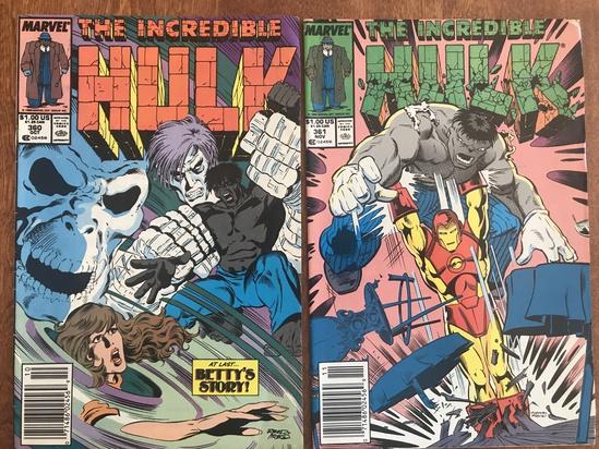 2 Issues The Incredible Hulk Comic #360 & #361 Marvel Comics Copper Age Comics
