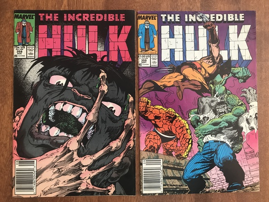 2 Issues The Incredible Hulk Comic #358 & #359 Marvel Comics Copper Age Comics
