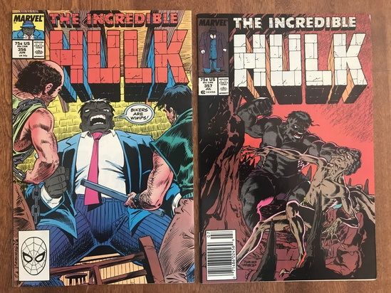 2 Issues The Incredible Hulk Comic #356 & #357 Marvel Comics Copper Age Comics