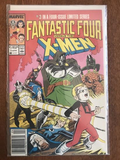 Fantastic Four Vs X Men Comic #3 Marvel Comics 1987 Copper Age Comics