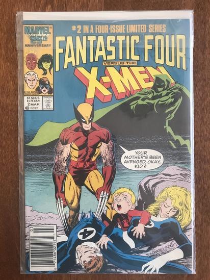 Fantastic Four Vs X Men Comic #2 Marvel Comics 1987 Copper Age Comics