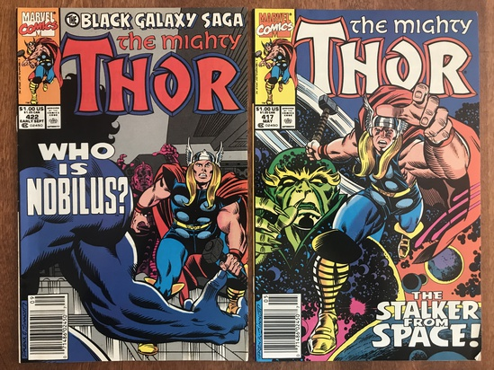 2 Issues The Mighty Thor Comic #417 & #422 Marvel Comics 1990 Copper Age Comics