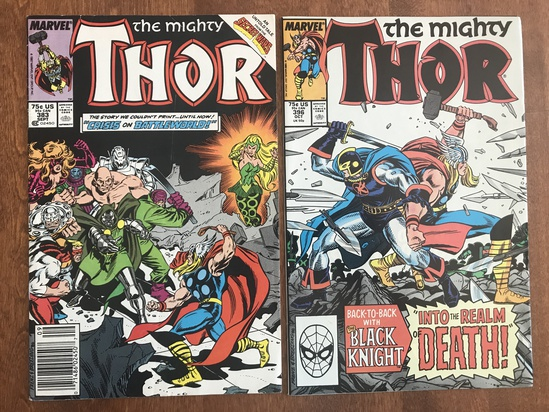 2 Issues The Mighty Thor Comic #383 & #396 Marvel Comics Copper Age Comics