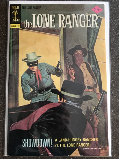 The Lone Ranger Comic #20 Gold Key 1975 Bronze Age painted cover