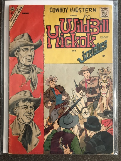 Wild Bill Hickok and Jingles Comic #66 Charlton Comics 1958 SILVER Age 10 cent