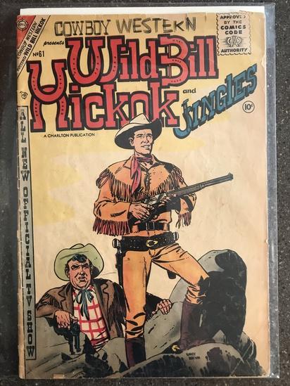 Wild Bill Hickok and Jingles Comic #61 Charlton Comics 1957 SILVER Age 10 cent