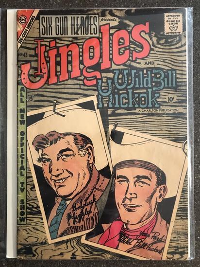 Six Gun Heroes Comic #43 Charlton Comics 1957 SILVER Age 10 cent