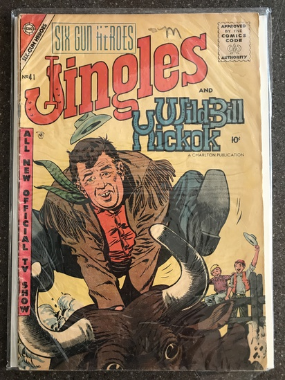 Six Gun Heroes Comic #41 Charlton Comics 1957 SILVER Age 10 cent