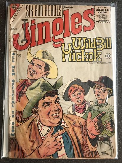 Six Gun Heroes Comic #39 Charlton Comics 1957 SILVER Age 10 cent
