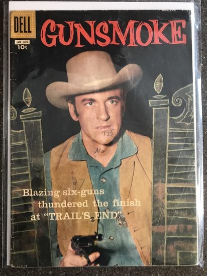 Four Color Comic #844 Dell Comics 1957 SILVER Age 10 cent KEY Final Gunsmoke Four Color Issue