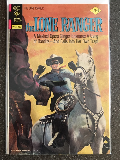 The Lone Ranger Comic #19 Gold Key 1972 Bronze Age painted cover