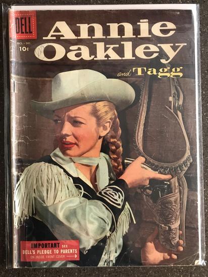 Annie Oakley and Tagg Comic #5 Dell Comics 1955 GOLDEN Age 10 cent