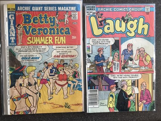 2 Issues Laugh Comic #384 & Betty and Veronica Summer Fun Comic #224 Bronze Age Comics