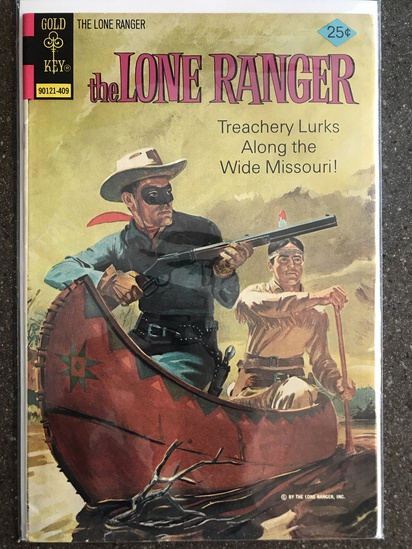 The Lone Ranger Comic #18 Gold Key 1972 Bronze Age 1st 25 cent painted cover