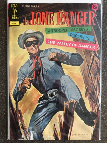 The Lone Ranger Comic #17 Gold Key 1972 Bronze Age Last 15 cent painted cover