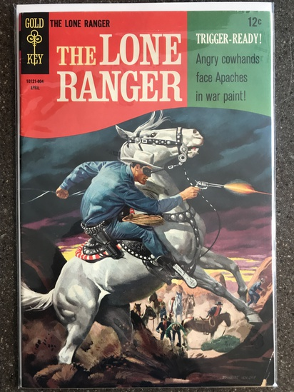 The Lone Ranger Comic #10 Gold Key 1967 SILVER Age 12 cent painted cover