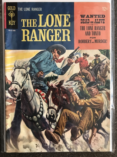 The Lone Ranger Comic #2 Gold Key 1965 SILVER Age 12 cent painted cover