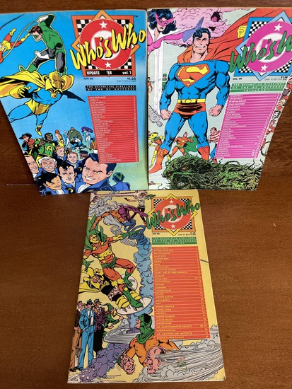3 Issues Whos Who The Definitive Directory of the DC Universe #15 #22 & Update 88 #1 DC Comics