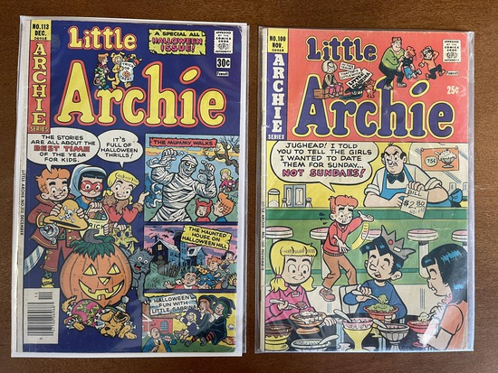 2 Issues Little Archie Comic #100 & #113 Archie Comics 1975 / 1976 Bronze Age Comics