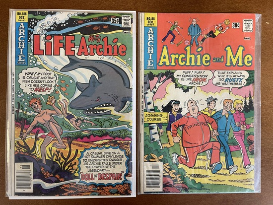 2 Issues Archie and Me #88 & Life With Archie #186 Archie Comics 1976 / 1977 Bronze Age Comics