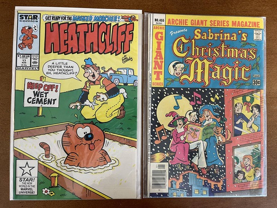 2 Issues Heathcliff #17 & Sabrina's Christmas Magic #455 Star Comics Archie Comics