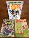 3 Issues Dennis the Menace Comic #4 #12 & #150 Marvel Comics Fawcett Comics