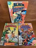 3 Issues Super Powers #5 Adventure Comics #450 Black Lightning #4 DC Comics Bronze Age Comics
