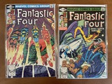 2 Issues Fantastic Four Comic #221 & #232 Marvel Comics 1980 Bronze Age Comics