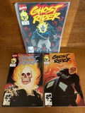 3 Issues Ghost Rider Comic #10 #13 & #18 Marvel Comics KEY Reintroduction to Johnny Blaze