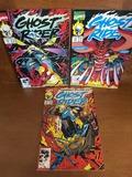 3 Issues Ghost Rider Comic #14 #19 & #22 Marvel Comics KEY Debut of Blaze's Hellfire Shotgun