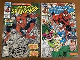 2 Issues The Amazing Spiderman Comic #348 & #350 Marvel Comics Avengers Sandman Doctor Doom