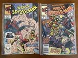 2 Issues Web of Spiderman Comic #56 & #57 Marvel Comics Rocket Racer Skinhead