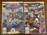 2 Issues Web of Spiderman Comic #59 & #60 Marvel Comics Puma Cosmic Spiderman