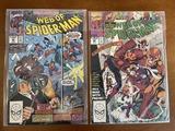 2 Issues Web of Spiderman Comic #64 & #65 Marvel Comics Kingpin Cosmic Spiderman Goliath