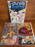 3 Issues Stanley and his Monster Comic #1 #2 & #3 DC Comics KEY 1st Issue