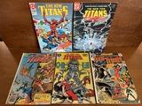 5 Issues The New Teen Titans Comic #2 #44 #46 #51 & #63 DC Comics