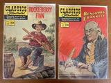 2 Issues Classics Illustrated Huckleberry Finn Comic #19 & Classics Illustrated Benjamin Franklin Co