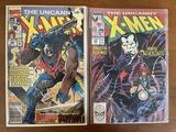 2 Issues The Uncanny X Men Comic #239 & #288 Marvel Comics Bishop Inferno