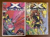 2 Issues X Factor Comic #13 & #14 Marvel Comics 1987 Copper Age Comics