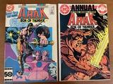 2 Issues Arak Son of Thunder Comic #50 & Annual #1 DC Comics KEY 1st Issue